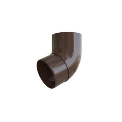alta profil koleno vodostoch 45gr korich 400x400 - Водосток Альта-Профиль ПВХ – Колено 45 (коричневый, белый)