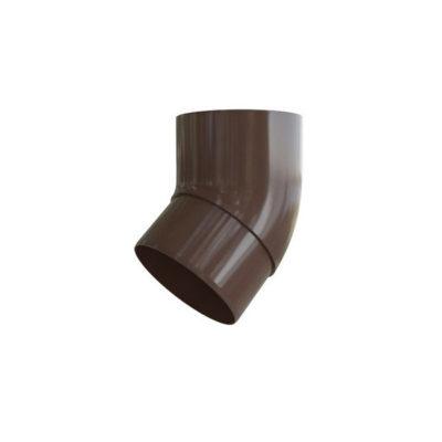 alta profil koleno vodostoch 67gr korich 400x400 - Водосток Альта-Профиль ПВХ – Колено 67  (коричневый, белый)