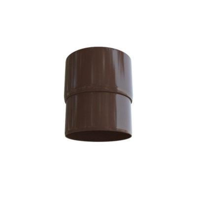 alta profil mufta truby vodostochnaya korich 400x400 - Водосток Альта-Профиль ПВХ – Муфта ты водосточная (коричневый, белый)