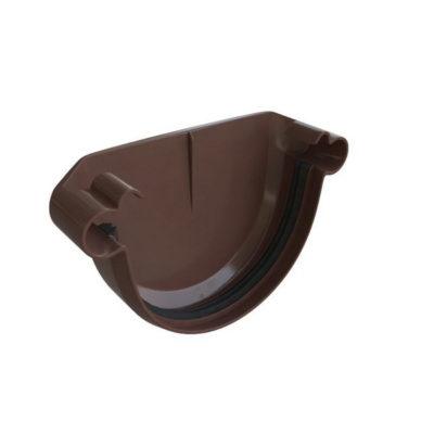 alta profil zaglushka vodostochnaya korich 400x400 - Водосток Альта-Профиль ПВХ – Заглушка водосточная (коричневый, белый)