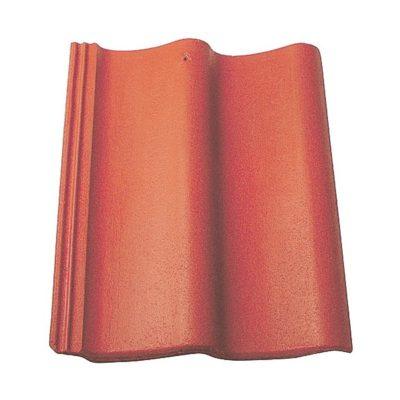 baltic tile cem pesochnaya cherepica sea wave standart brick red 400x400 - Цементно-песчаная черепица Baltic Tile, Sea Wave – Кирпично-красный (стандарт)