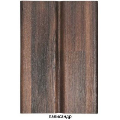 """gamrat sofit perforirovanny palisander 400x400 - Софит Gamrat, """"под дерево"""", ½ перфорированный – Палисандер"""