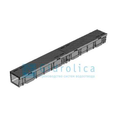 gidrolica light lotok vodootvodny plastikovy art 0809 1 400x400 - Комплект Gidrolica Light: лоток водоотводный ЛВ -10x11,5x9,5 - пластиковый с решеткой РВ- 10x11x50 пластиковой ячеистой, кл. A15 (Арт. 0809)