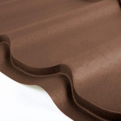 grand line metallocherepica drap rr32 temno korichnevy 400x400 - Металлочерепица Grand Line, покрытие Drap 0.45мм – Темно-коричневый rr32