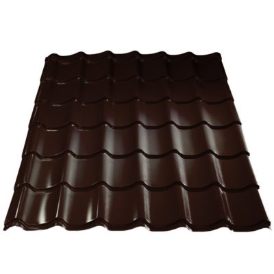 grand line metallocherepica purman 8017 shokolad 400x400 - Металлочерепица Металл Профиль, покрытие Purman - 8017
