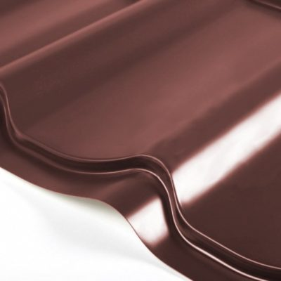 grand line metallocherepica quarzit lite 8017 shokolad 400x400 - Металлочерепица Grand Line, покрытие Quarzit Lite 0.5мм – Шоколад 8017