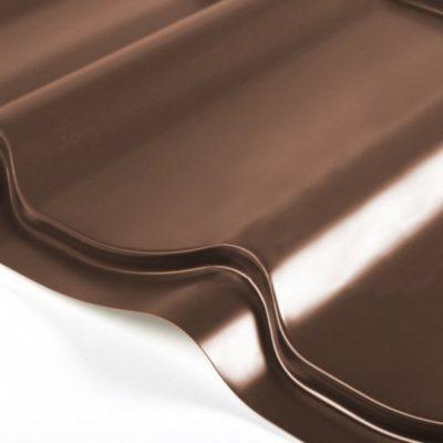 grand line metallocherepica quarzit rr32 temno korichnevy 400x400 - Металлочерепица Grand Line, покрытие Quarzit 0.5мм – Темно-коричневый rr32