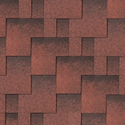 "iko gibkaya cherepica skyline tile red ultra 400x400 - Гибкая черепица IKO серия ""Skyline"" – Tile Red Ultra"