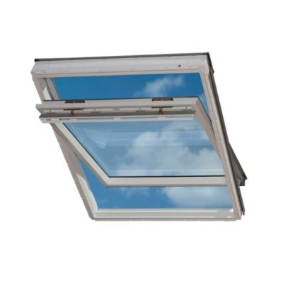 mansardnye okna velux ggu 0073 beloe vlagostoykoe 400x400 - Окно с комбинированным открыванием Velux GPU 0073 - Панорама