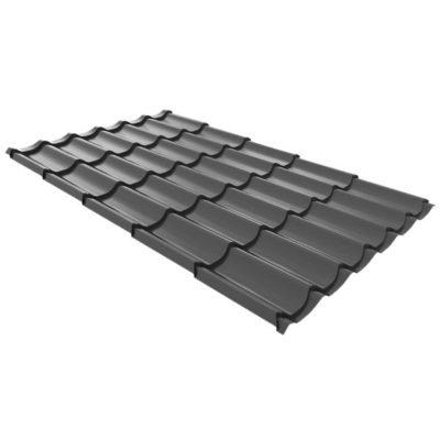 metallocherepica ruukki monterrey plus purex temno sery rr23 400x400 - Металлочерепица Ruukki, Monterrey Plus Purex — Темно-серый (RR 23)