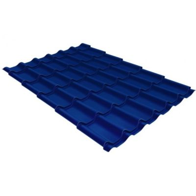 metallocherepitsa klassik 0 5 satin ral 5005 400x400 - Металлочерепица Grand Line сталь 0,5мм покрытие Satin RAL 5005 сигнальный синий