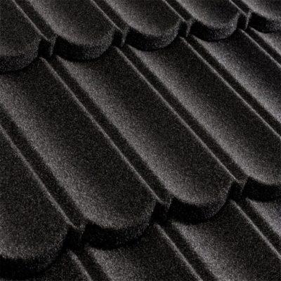 metrotile kompozitnaya cherepica metrobond cherny 400x400 - Композитная черепица Metrotile, коллекция MetroBond – Черный
