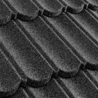 metrotile kompozitnaya cherepica metrobond sery 400x400 - Композитная черепица Metrotile, коллекция MetroBond – Серый