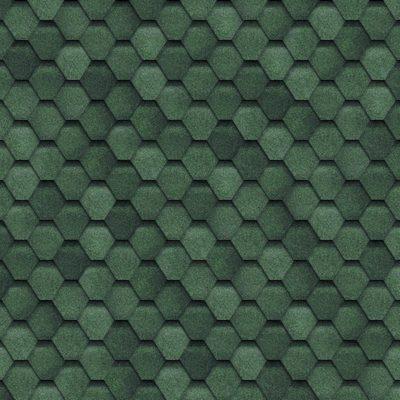 shinglas fin green 400x400 - Гибкая черепица Shinglas, серия Финская,коллекция Соната  – Зеленый