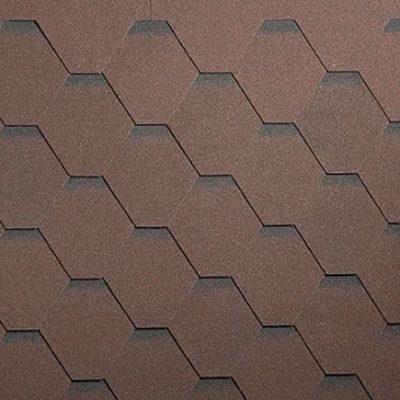 shinglas klassik kardil brown 1 400x400 - Гибкая черепица Shinglas, серия Классик, коллекция Кадриль – Агат,Коричневый