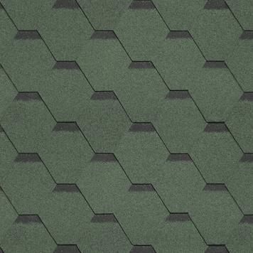 shinglas klassik kardil green nefrit - Гибкая черепица Shinglas, серия Классик, коллекция Кадриль – Нефрит Зеленый