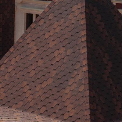 shinglas klassik kardil green onix dom 400x400 - Гибкая черепица Shinglas, серия Классик, коллекция Кадриль – Оникс