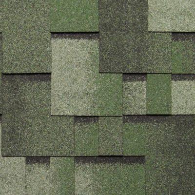 tegola gibkaya cherepica nordland alpin zeleny s otlivom 400x400 - Гибкая черепица Tegola серия Альпин – Зеленый с отливом