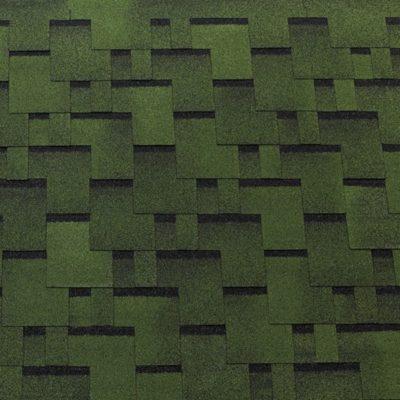 tegola gibkaya cherepica top shingle futuro zeleny 400x400 - Гибкая черепица Tegola серия Футуро – Зеленый