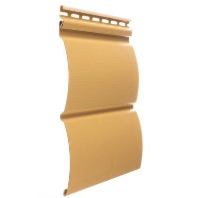 vinilovyj sajding docke profil blokhaus karamel 400x400 - Виниловый сайдинг Docke, профиль Блокхаус – Карамель
