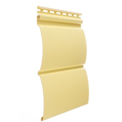 vinilovyj sajding docke profil blokhaus limon 400x400 - Виниловый сайдинг Docke, профиль Блокхаус – Лимон