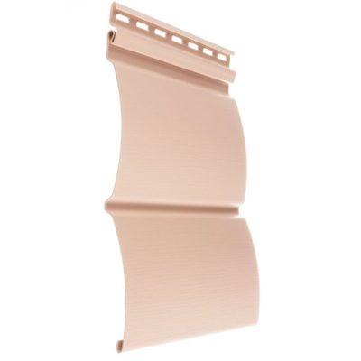 vinilovyj sajding docke profil blokhaus persik 400x400 - Виниловый сайдинг Docke, профиль Блокхаус – Персик