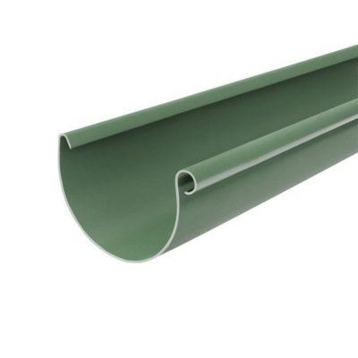 vodostok bryza pvh jelob 3m 75 400x400 - Водосток Bryza, система Мини 75x63 – желоб 3 метра