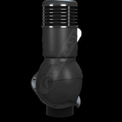 K55 6 seria2 400x400 - K55 Вентиляционный выход PERFEKTA утепленный Ø150 мм RAL 9005