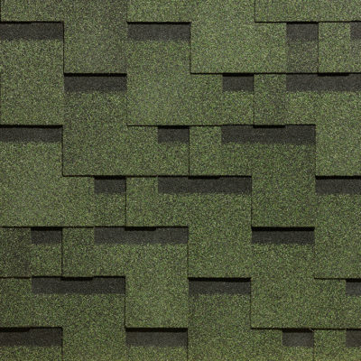 docke gibkaya cherepica tetris zelenij 400x400 - Гибкая черепица Docke, коллекция Тетрис – Зелёный