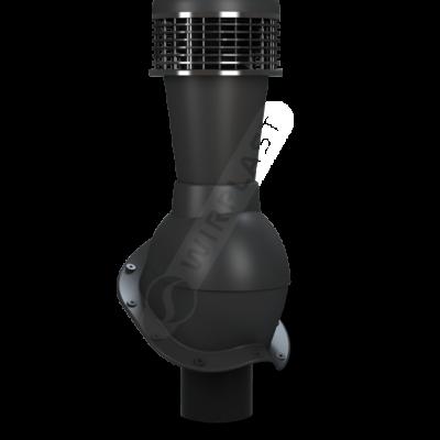 K50 6 seria2 400x400 - K50 Вентиляционный выход PERFEKTA с вентилятором Ø110 мм RAL 9005