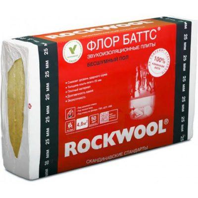 file 904 3 1 400x400 - Утеплитель Rockwool Флор Баттс 1000х600х50 мм 4 штуки в упаковке.