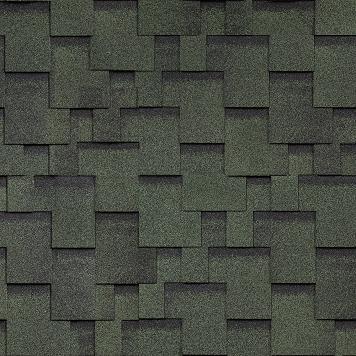 shinglas finskaya akkord zelenyy - Гибкая черепица Shinglas, серия Финская, коллекция Аккорд – Зеленый