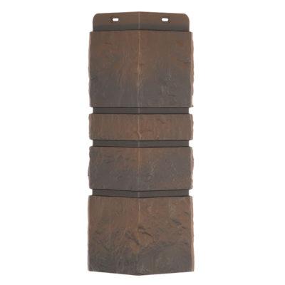 ugol tsokolbnogo saydinga burg docke temnij 400x400 - Угол наружный Docke коллекция Burg (Тесаный камень) тёмный