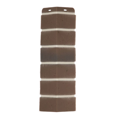 ugol tsokolbnogo saydinga docke r berg korichnevij 400x400 - Угол наружный Docke коллекция Berg (Кирпич) коричневый