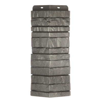 ugol tsokolnogo saydinga docke r stein antracit 400x400 - Угол наружный Docke коллекция Stein (Слоистый песчаник) Антрацит