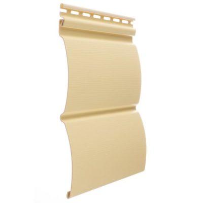 vinilovyj sajding docke profil blokhaus banan 400x400 - Виниловый сайдинг Docke, профиль Блокхаус –Банан