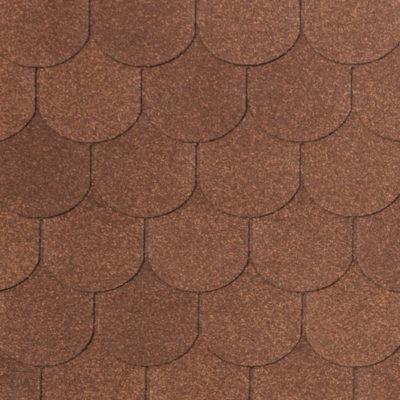 4 VERONA brown mix 400x400 - Гибкая черепица Tegola Nobil Tile Верона - Коричневый