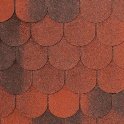 4 VERONA red brick 400x400 - Гибкая черепица Tegola Nobil Tile Верона - Красный с отливом