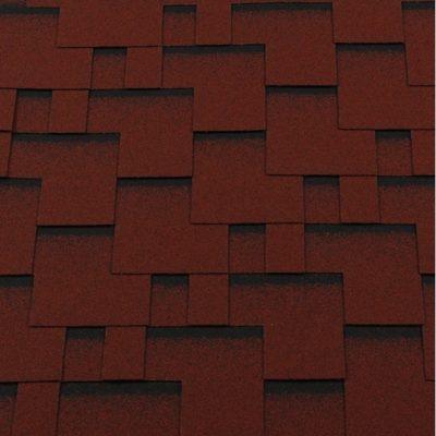 gibkaya cherepitsa premium modern krasnyij s otteneniemj 400x400 - Гибкая черепица Roofshield  Премиум Модерн - Красный с оттенением