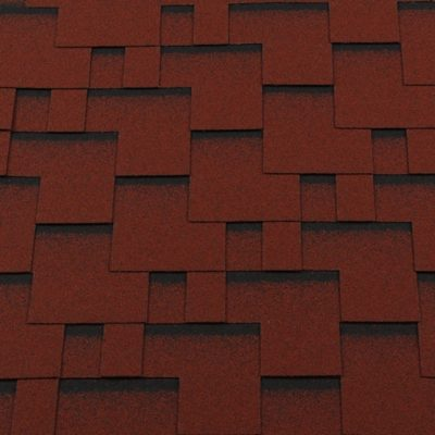 gibkaya cherepitsa roofshield klassik modern krasnyj s otteneniem 400x400 - Гибкая черепица Roofshield  Классик Модерн - Красный с оттенением