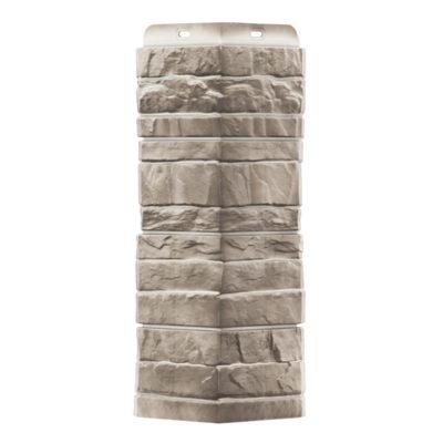ugol tsokolnogo saydinga docke r stein basalt 400x400 - Угол наружный Docke коллекция Stein (Слоистый песчаник) Базальт