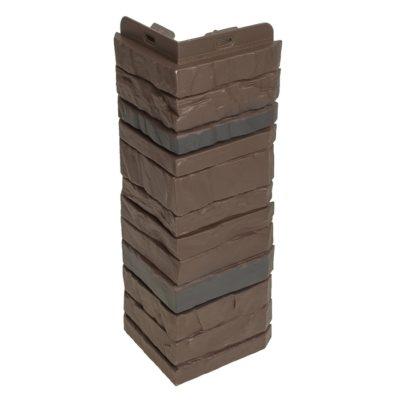 ugol tsokolnogo saydinga docke r stein temnij oreh 1 400x400 - Угол наружный Docke коллекция Stein (Слоистый песчаник) Тёмный орех