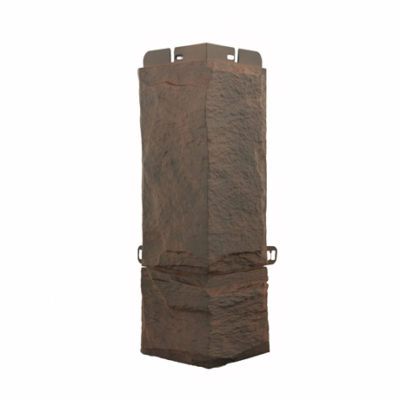 ugol tsokolnoj paneli alta profil kollektsiya granit alpijskij 400x400 - Угол цокольной панели Альта-Профиль, коллекция Гранит - Альпийский
