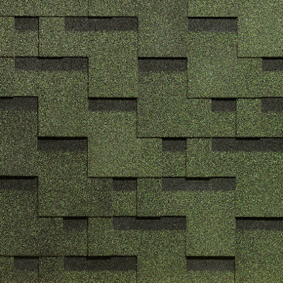 gibkaja cherepica docke pie europa kollekcija matrica zelenij 400x400 - Гибкая черепица Docke PIE EUROPA, Коллекция МАТРИЦА – зелёный